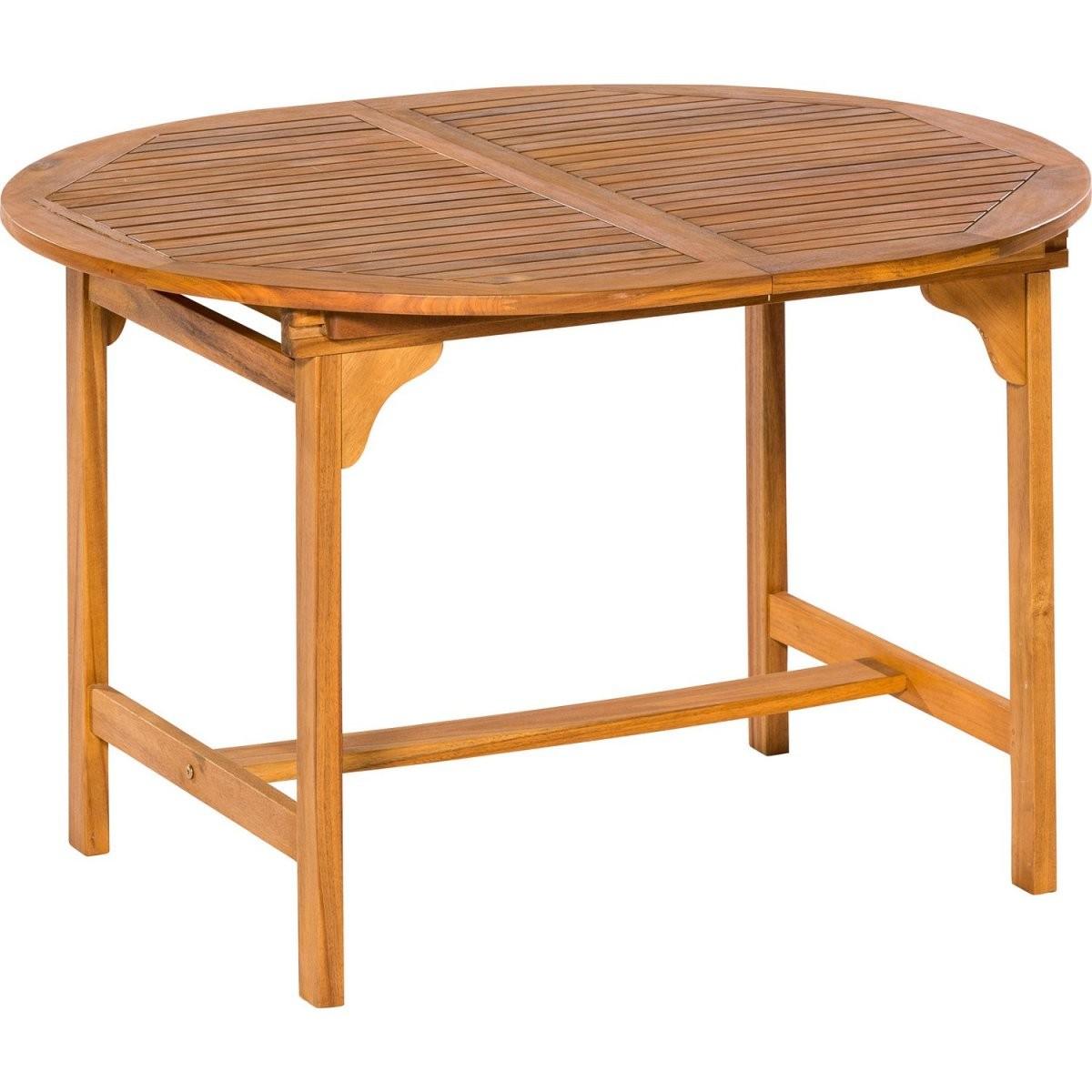 Gartentisch Oval 120170 Cm X 100 Cm Akazie Ausziehbar Kaufen Bei Obi von Gartentisch Holz Rund 120 Photo