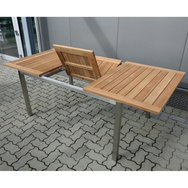 Gartentisch Rund Teak Ausziehbar Design Von Gartentisch Edelstahl Teak von Gartentisch Teak Edelstahl Ausziehbar Bild