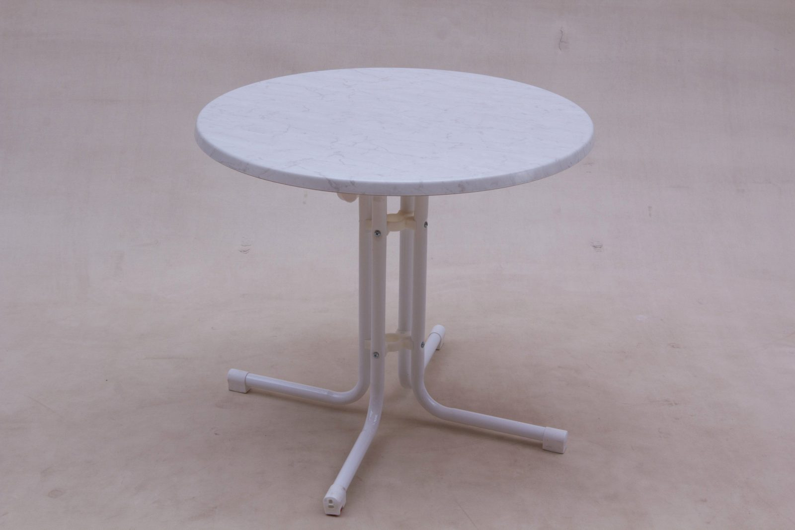 Gartentisch Rund Weiss Elegant Beistelltisch Terrasse Tisch Garten von Gartentisch Rund Kunststoff Weiß Bild