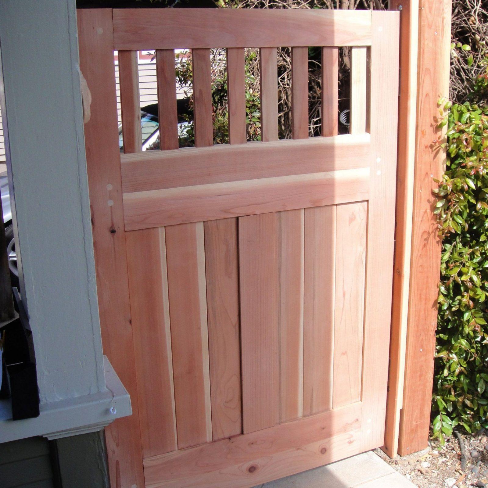 Gartentor Selber Bauen Mit Dieser Bauanleitung Bauen Sie Ein von Gartentor Holz Selber Bauen Bild