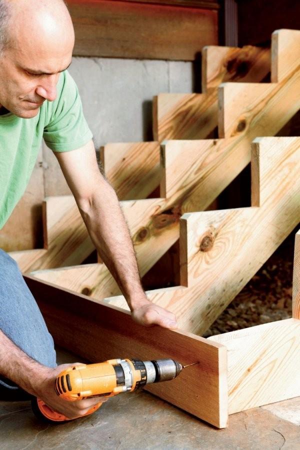 Gartentreppe Aus Holz Selber Bauen  Anleitung Und Beispiele von Terrassen Treppen Selber Bauen Bild