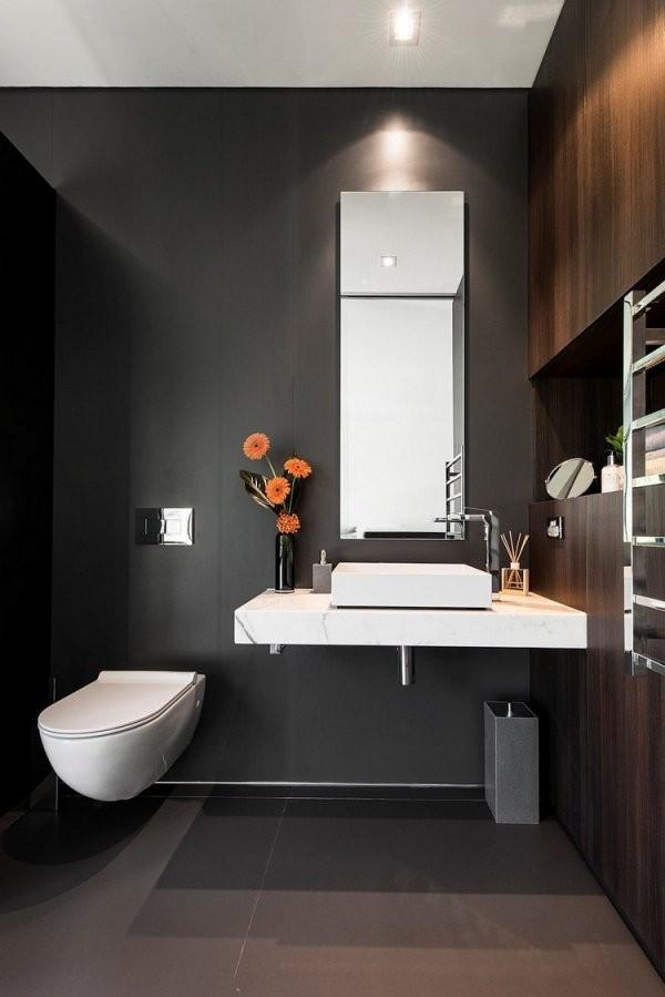 Gäste Wc Gestalten  16 Schöne Ideen Für Ein Kleines Bad von Gäste Wc Ideen Modern Bild