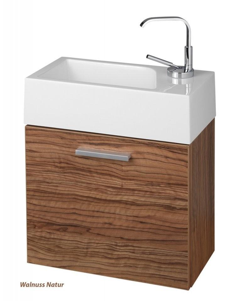 Gästewc Badmöbel Waschbecken Mit Unterschrank Und Ablagefächer von Wc Waschtische Mit Unterschrank Photo