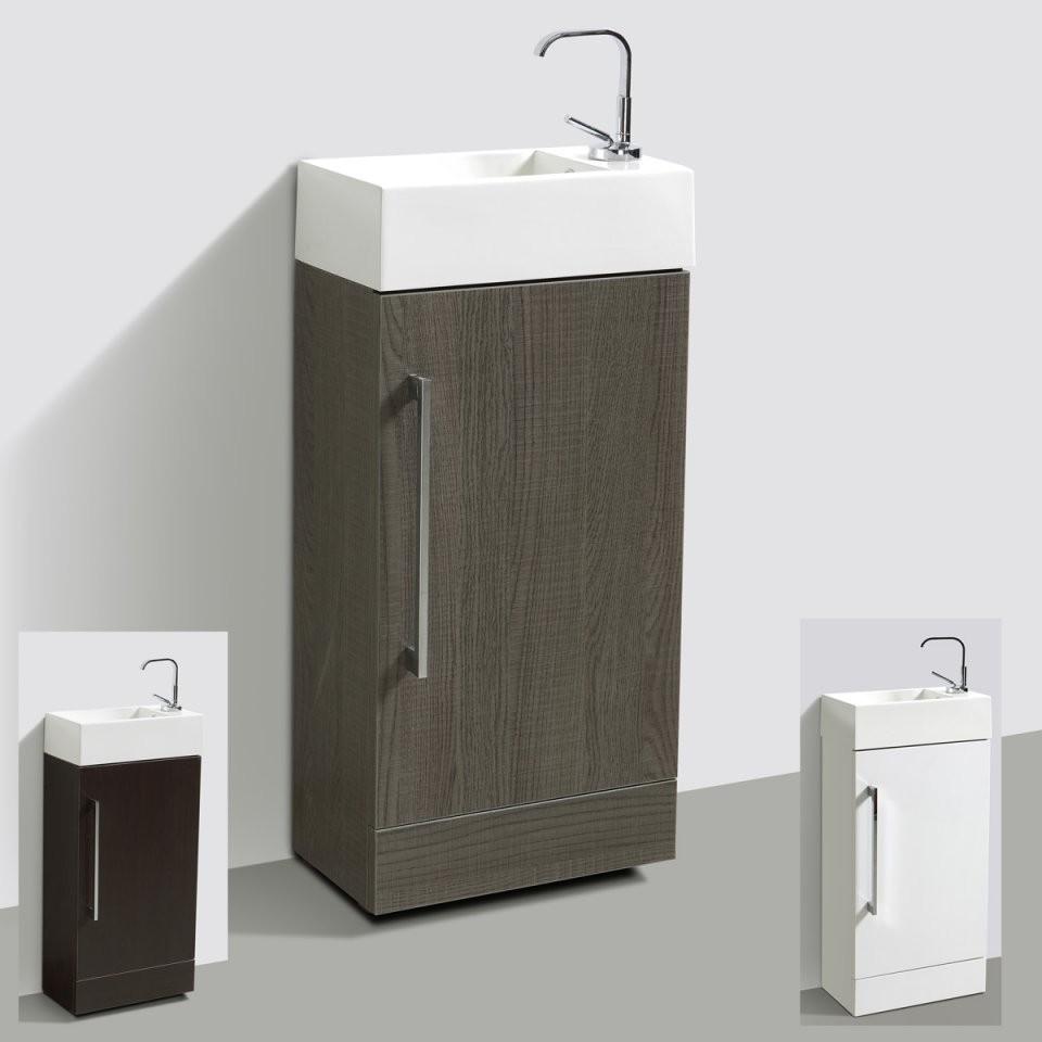 Gästewc Für Standmontage Badmöbel Waschbecken Mit Unterschrank von Wc Waschtische Mit Unterschrank Bild