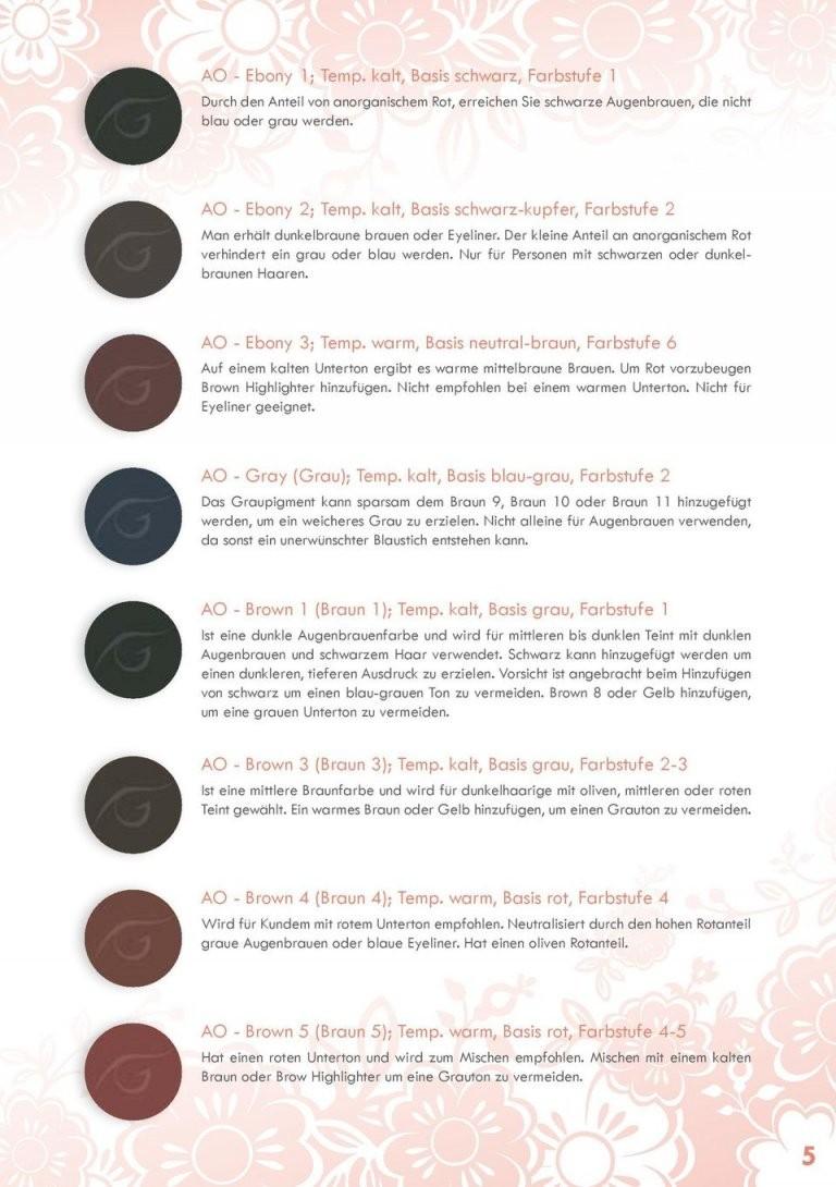 Gebrauchsanweisung Micro Colors Permanent Makeup Farben Made In von Wie Mischt Man Braun Bild