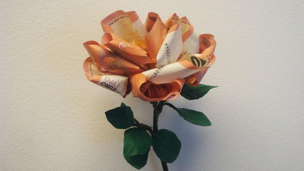 Geld Falten ❁ Geldgeschenk Basteln ❁ Deko Ideen Mit Florashop von Blumen Basteln Aus Geld Bild