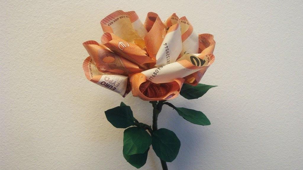 Geld Falten ❁ Geldgeschenk Basteln ❁ Geschenkideen ❁ Deko Ideen von Blumen Falten Aus Geld Photo