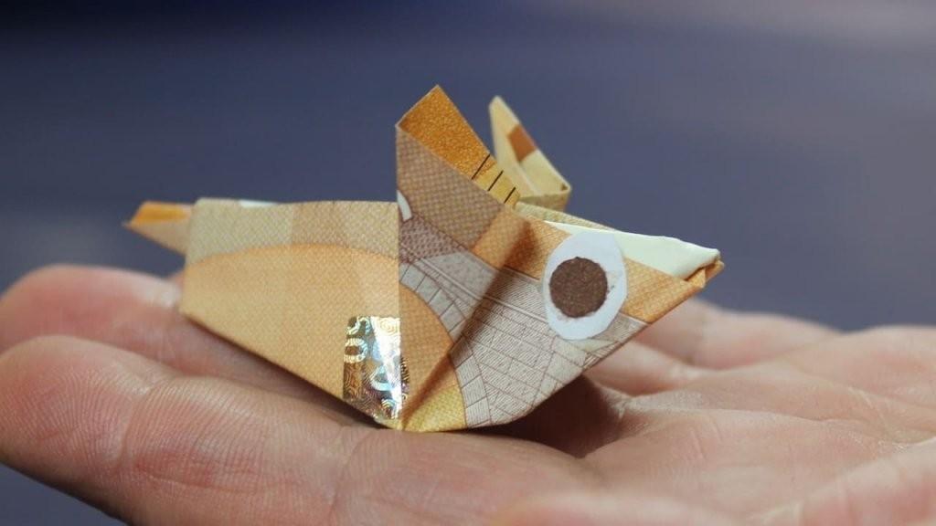Geld Falten ❁ Geldscheine Falten Maus ❁ Geldgeschenk Basteln  Youtube von Maus Aus Geldschein Falten Photo