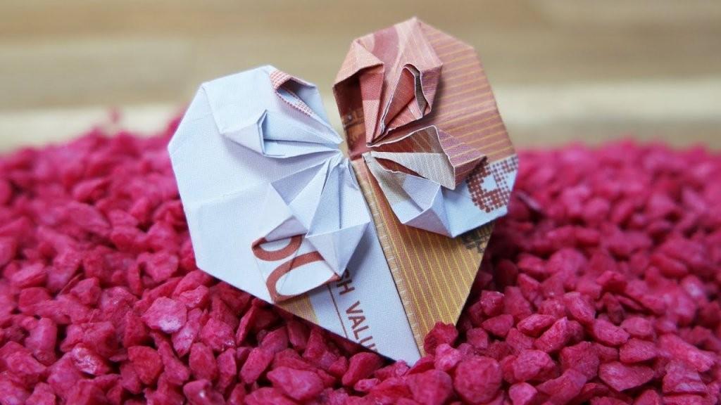 Geldscheine Falten Herz ❤ Origami Geldgeschenk Zur Hochzeit  Youtube von Geldschein Als Herz Falten Photo