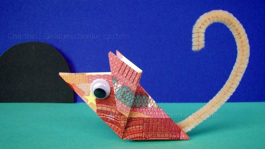 Geldscheine Falten Maus Geld Falten Zum Lustige Geldgeschenke von Maus Aus Geldschein Falten Bild