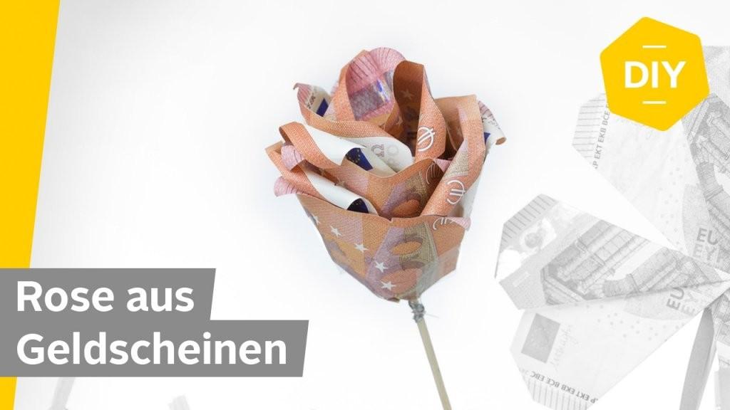 Geldscheine Falten Rose  Für Kreative Geldgeschenke  Roombeez von Blumen Falten Aus Geldscheinen Photo