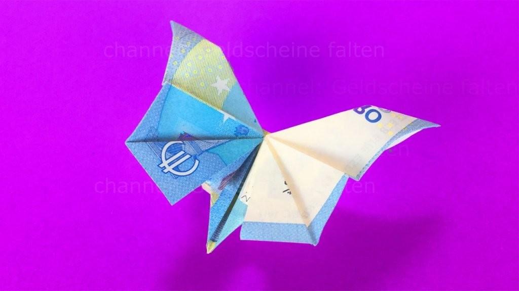 Geldscheine Falten Schmetterling  Geldgeschenke Basteln  Geld von Geldscheine Falten Blume Mit Einem Schein Photo