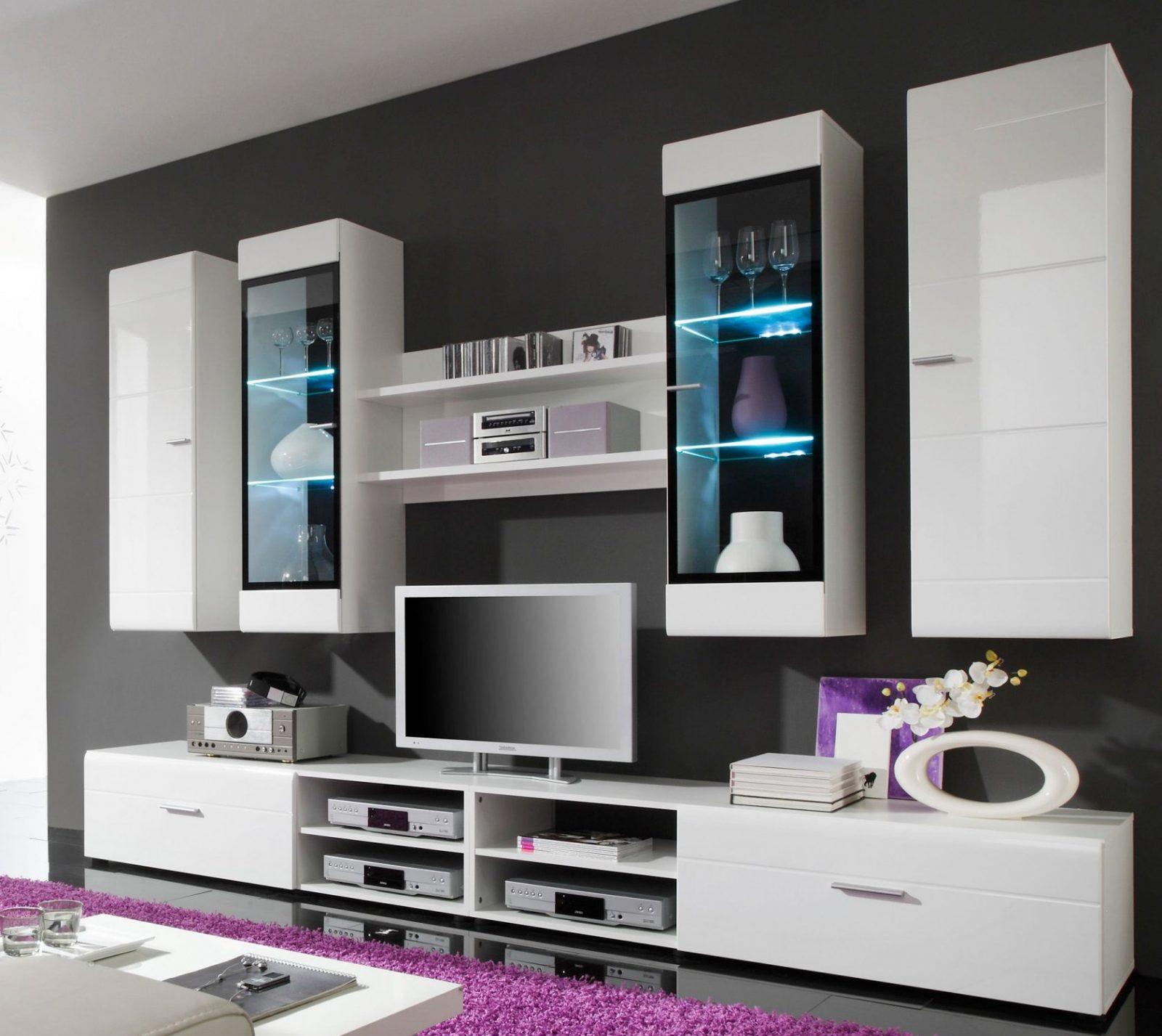 Genial Wohnwand Schwarz Weiß Hochglanz Günstig  Schöner Wohnen In von Wohnwand Weiß Hochglanz Günstig Bild