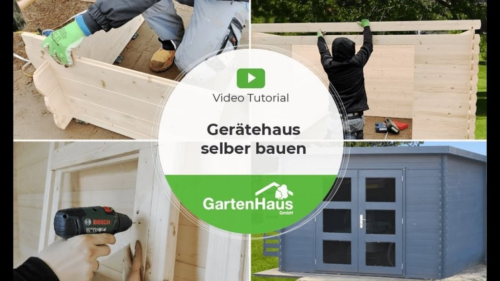 Gerätehaus Selber Bauen Video Tutorial  Youtube von Gartenhaus Selber Bauen Video Photo