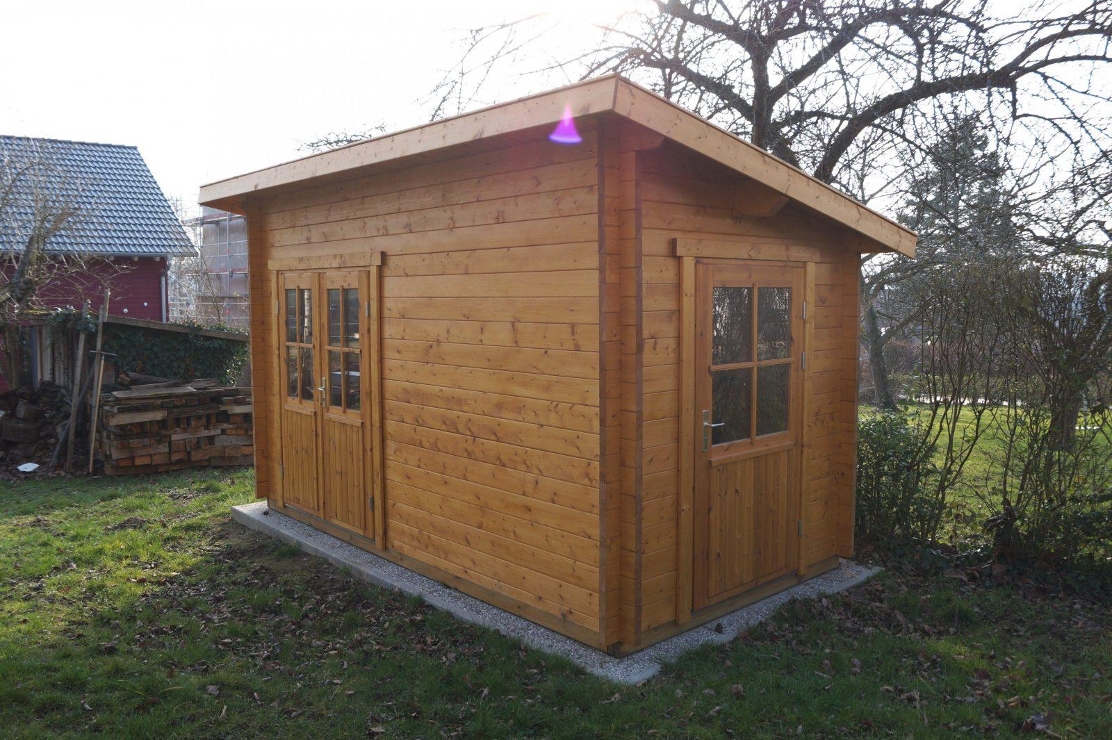 Geräteschuppen Hornbach Schön Beste Gartenhaus Pultdach Selber Bauen von Pultdach Garage Selber Bauen Photo