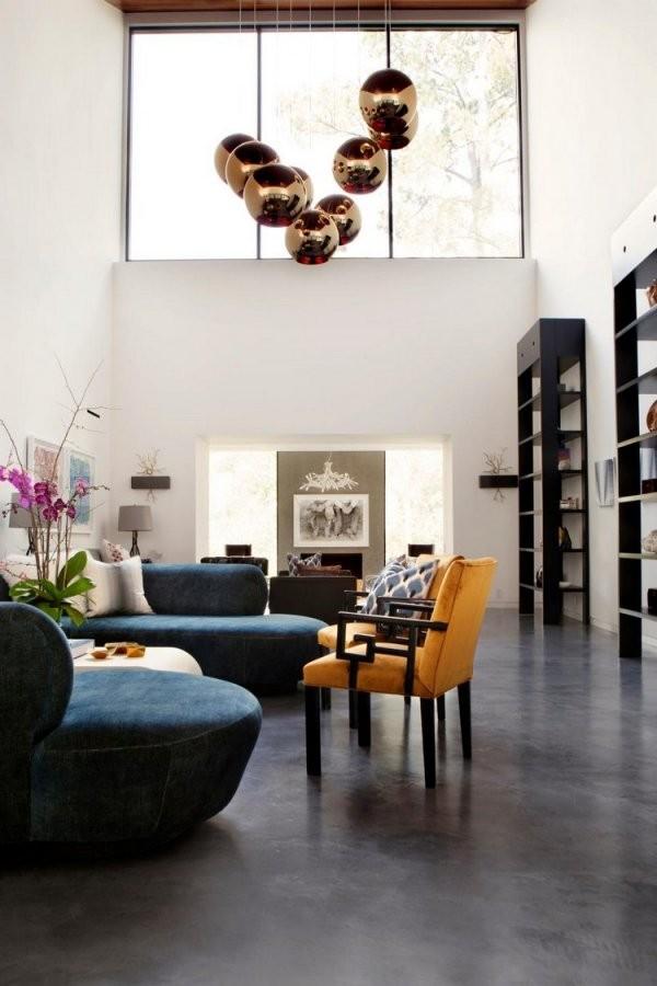 Geschliffener Estrich Als Bodenbelag  18 Wohnideen Mit Designestrich von Polierter Estrich Als Fussboden Photo