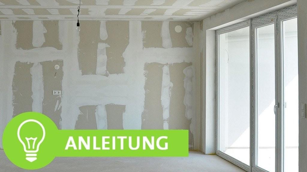 Gipskartonplatten Spachteln  Gipskarton Streichen Einfache von Wände Ohne Tapete Gestalten Bild