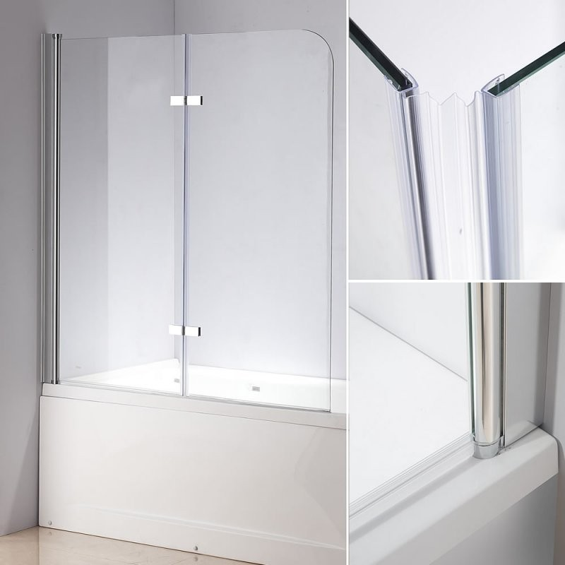 Glas Duschabtrennung Badewannenaufsatz Faltwand Badewanne von Duschwand Glas Für Badewanne Photo