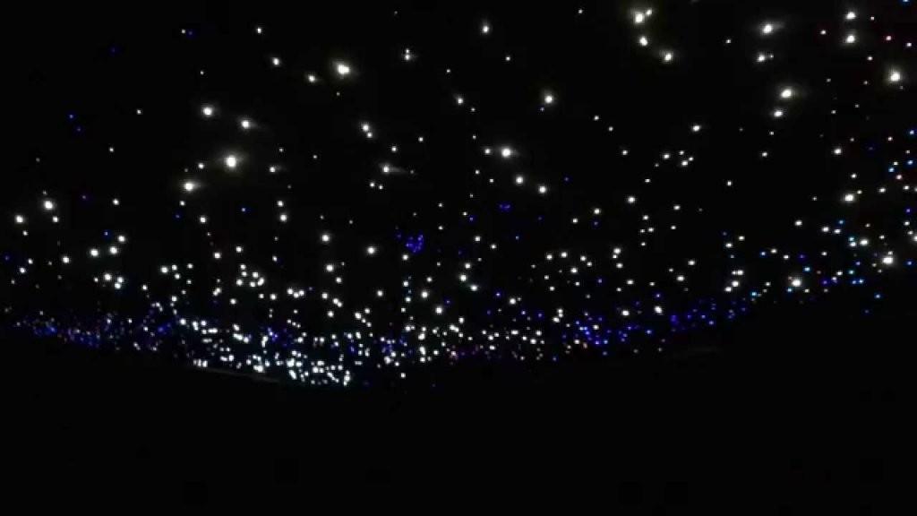 Glasfaser Sternenhimmel Mit Sternschnuppe  Youtube von Sternenhimmel Lampe Selber Bauen Bild