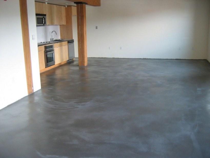 Grauer Estrich  Gostilica  Estrich Fußboden Und Zement von Polierter Estrich Als Fussboden Photo
