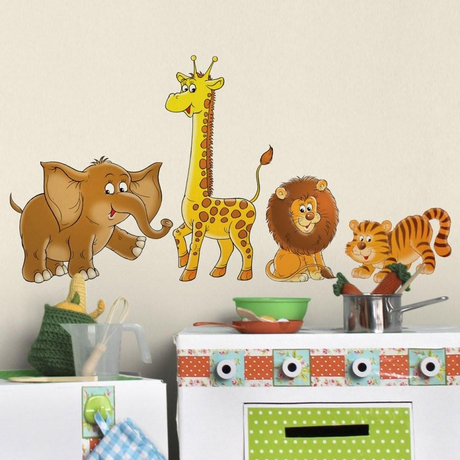Great Wandtattoos Kinderzimmer Photos >< Wandtattoo Kinderzimmer von Wandtattoo Kinderzimmer Junge Tiere Bild
