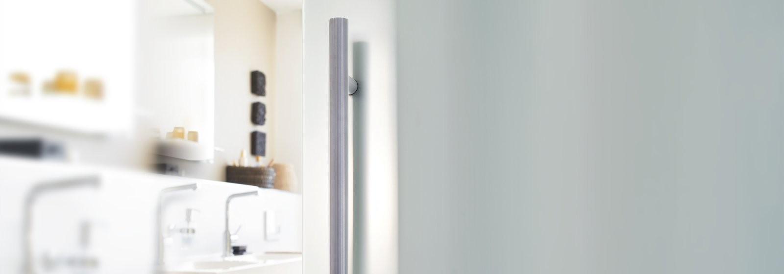 Griffmuscheln Und Stoßgriffe Für Glastüren von Glastür Mit Zarge Bauhaus Photo