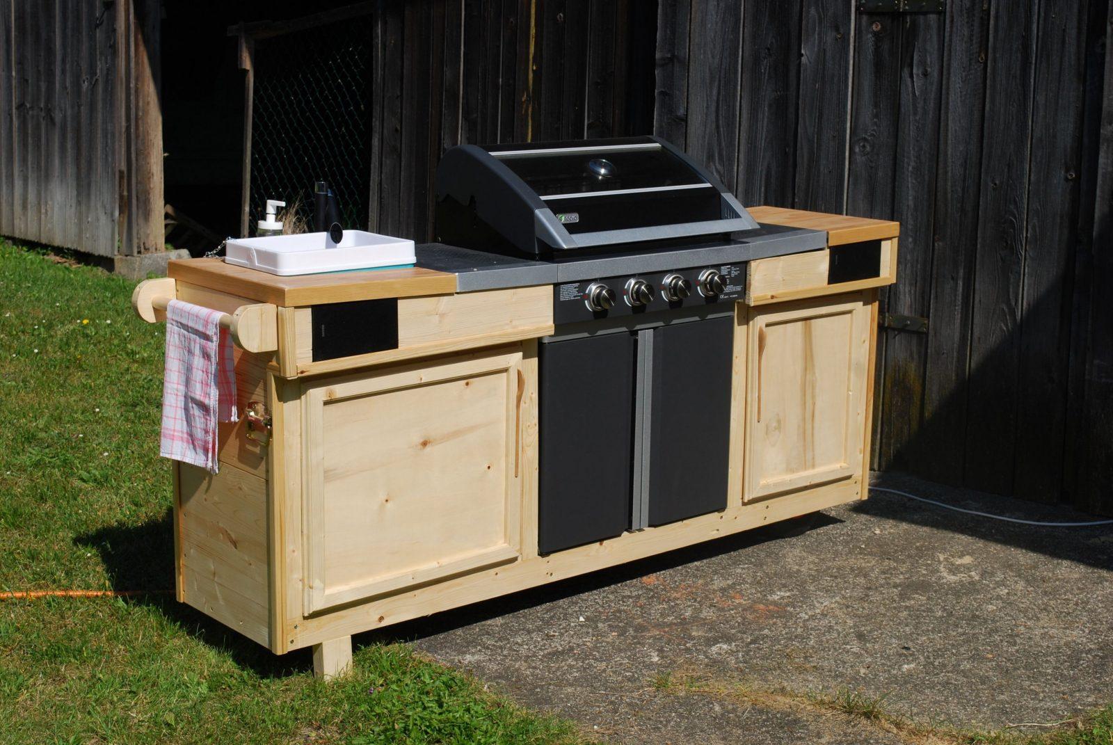 Grillomobil  Meine Outdoorküche Bauanleitung Zum Selber Bauen von Außenküche Selber Bauen Holz Bild