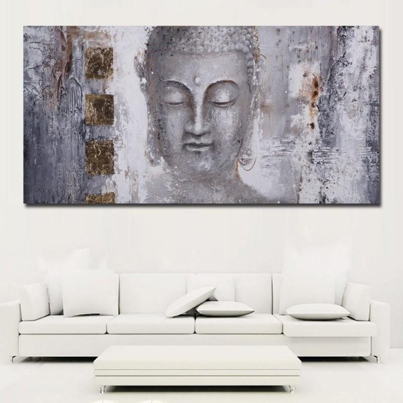Große Größe Poster Leinwand Kunst Abstrakte Kunst Buddha Malerei von Grosse Bilder Fürs Wohnzimmer Photo