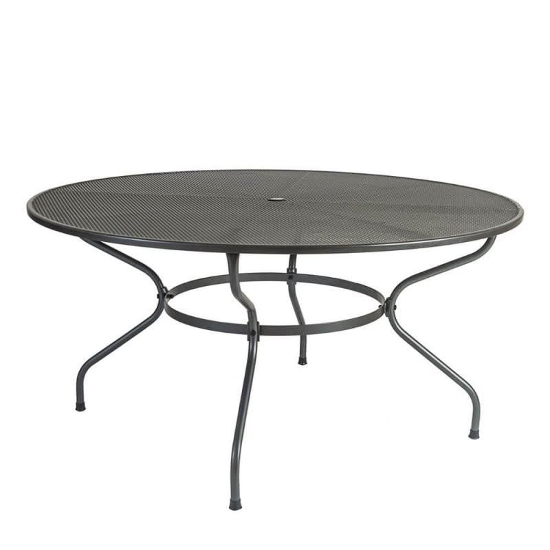 Großer Gartentisch Burton 150Cm  Aus Stahlrohr  Gartentraum von Gartentisch Rund 150 Cm Bild
