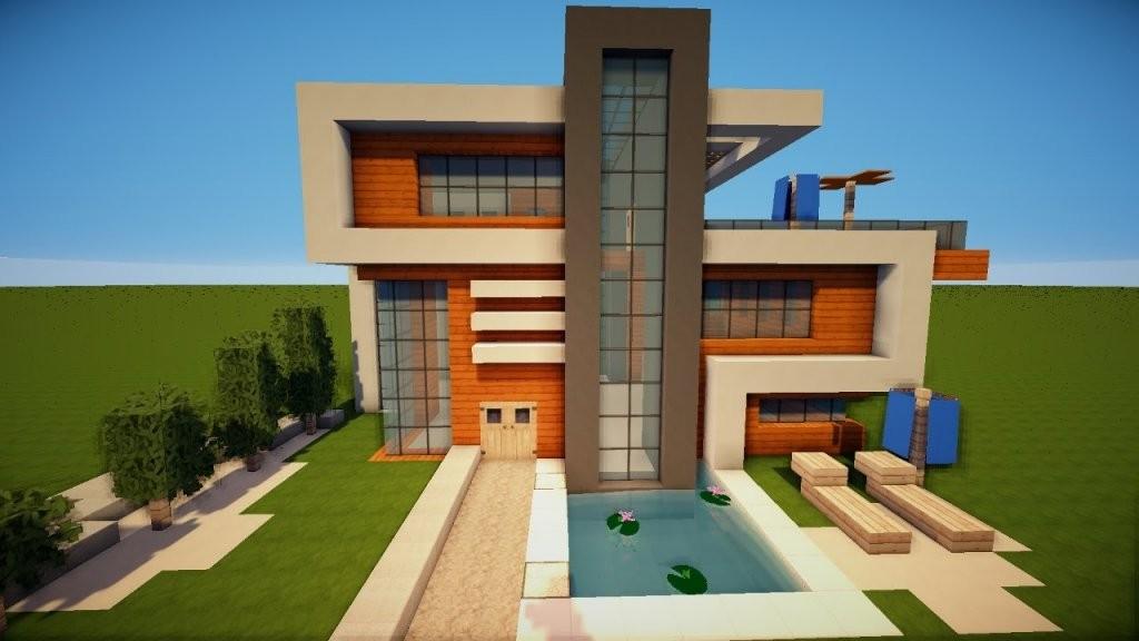 Großes Schönes Modernes Minecraft Haus Bauen Tutorial [German] 2017 von Minecraft Häuser Modern Zum Nachbauen Photo
