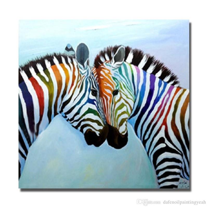 Großhandel Heißer Verkauf Zebra Malerei Auf Leinwand Wohnkultur von Zebra Bilder Auf Leinwand Photo
