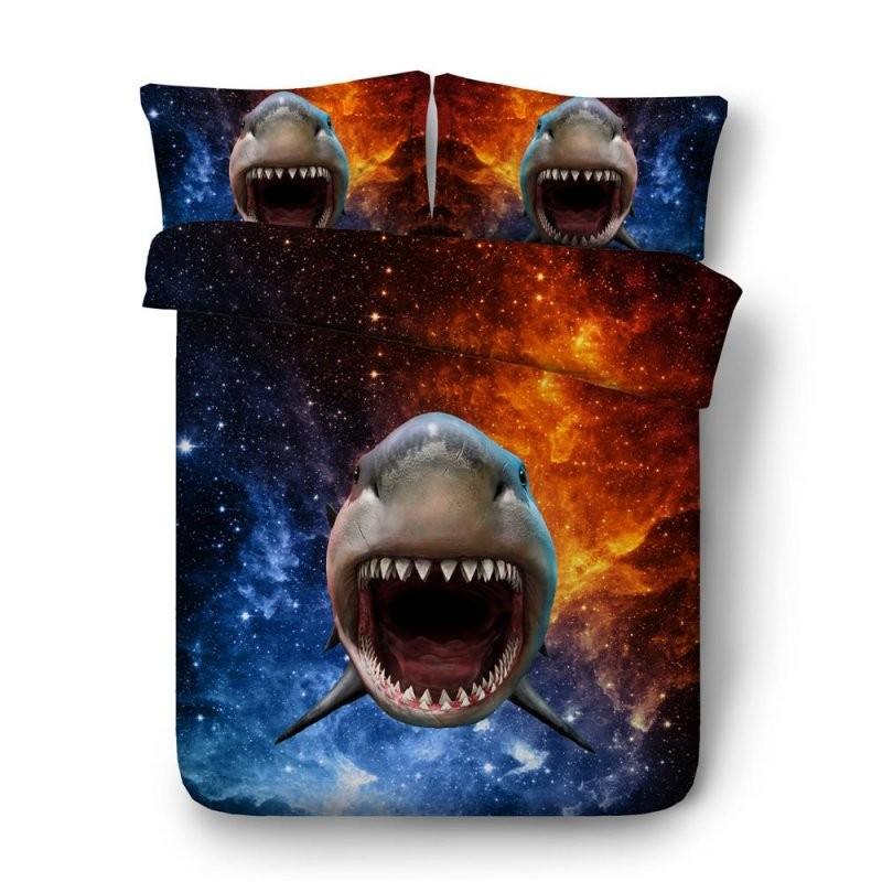 Großhandel Kühle Galaxie Und Haifisch Hd Digitaldruckbettwäsche Für von Coole Bettwäsche Für Teenager Photo