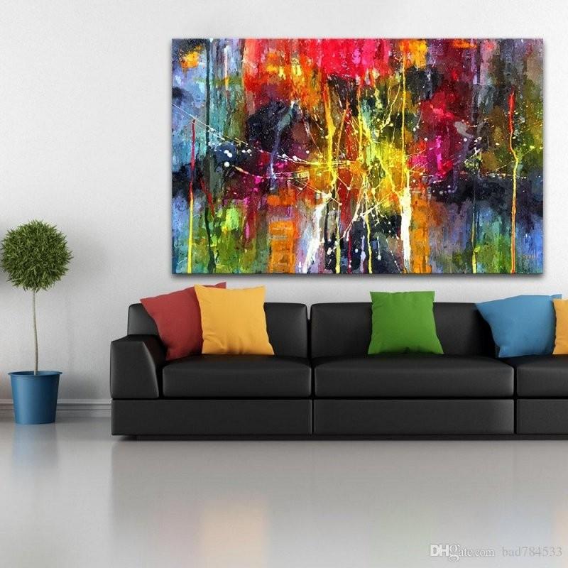Großhandel Qkart Abstrakte Malerei Bunte Leinwand Wandbilder Für von Bilder Auf Leinwand Abstrakt Photo