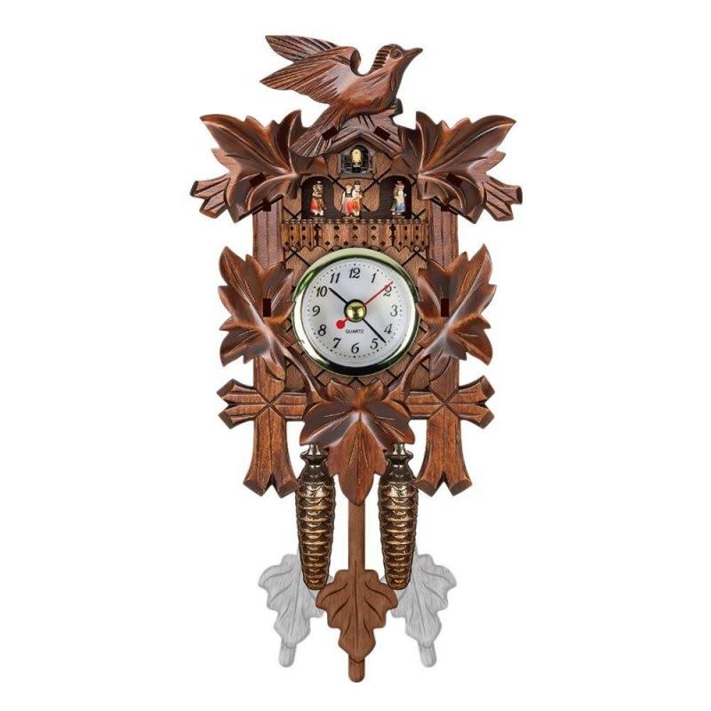 Großhandel Vintage Home Dekorative Vogel Wanduhr Hängen Holz von Wohnzimmer Uhren Mit Pendel Photo