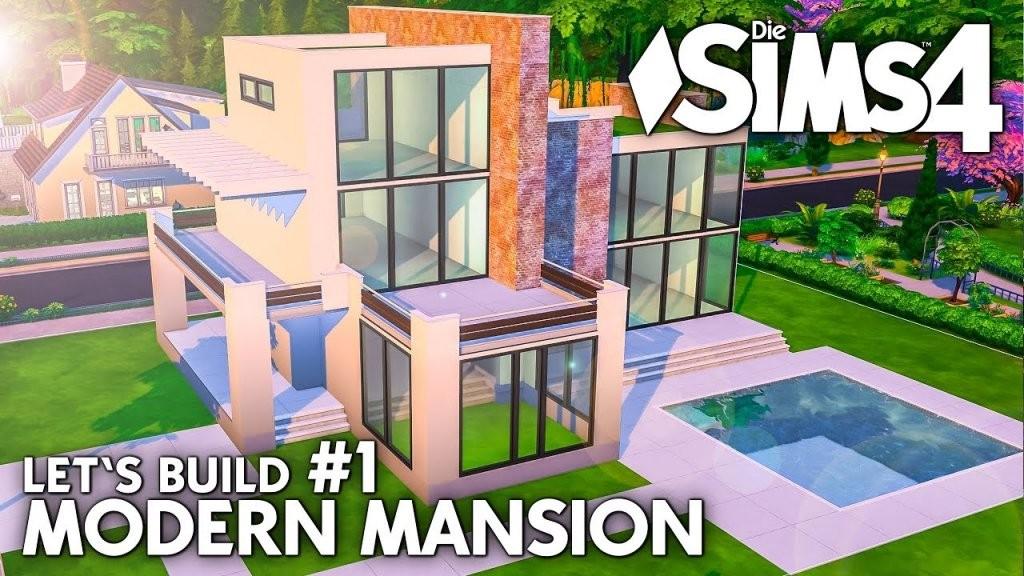 Grundriss  Die Sims 4 Haus Bauen  Modern Mansion 1 (Deutsch von Sims 4 Häuser Zum Nachbauen Photo