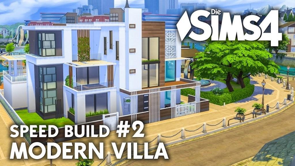 Grundriss  Die Sims 4 Haus Bauen  Modern Villa 2  Speed Build von Sims 4 Häuser Zum Nachbauen Photo
