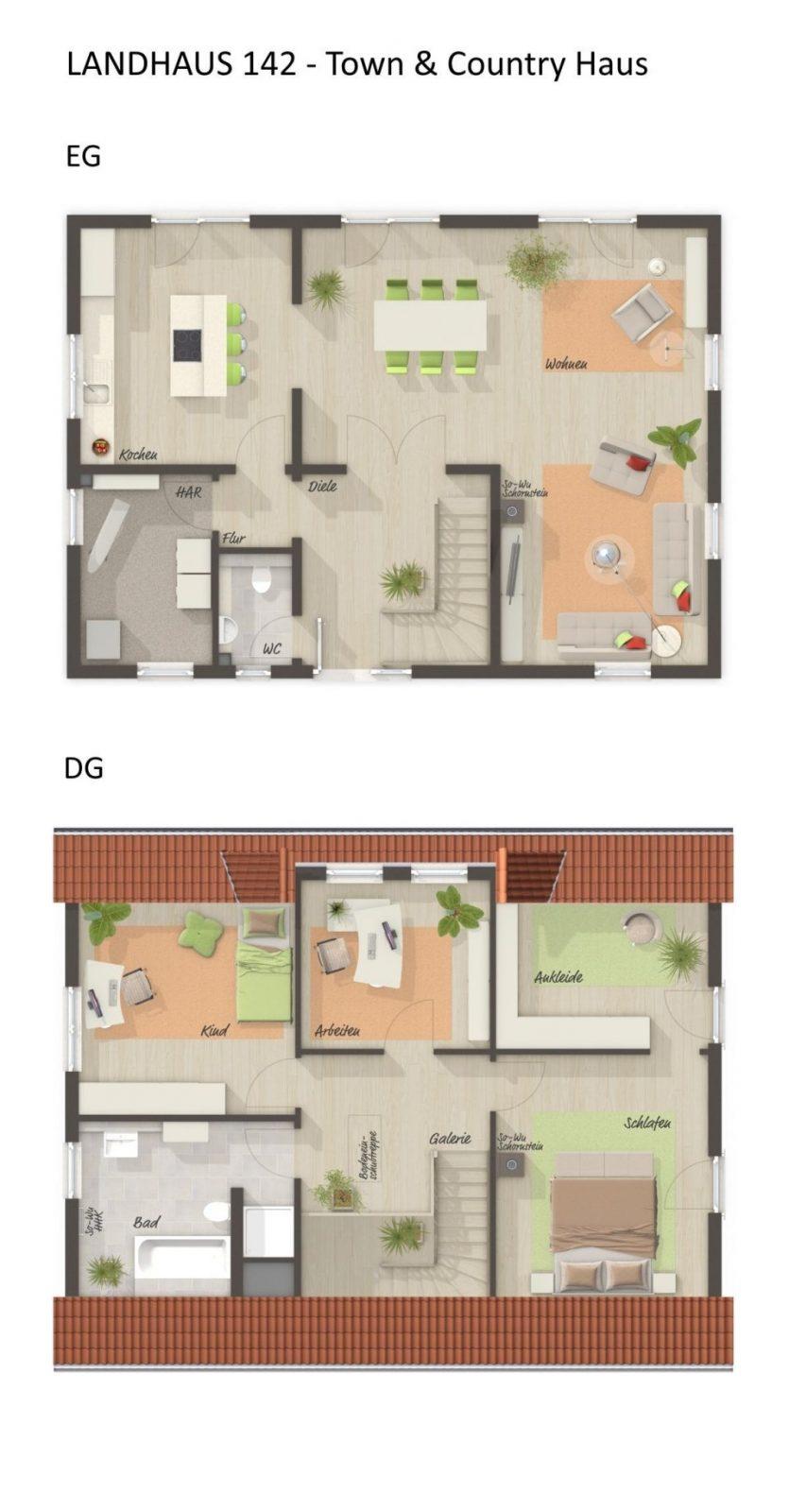 Grundriss Einfamilienhaus Mit Satteldach Architektur  4 Zimmer 140 von Grundriss Küche Mit Kochinsel Photo