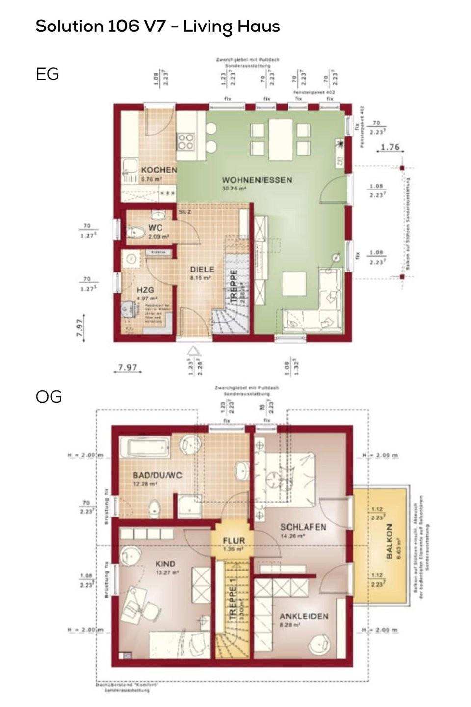 Grundrisse Einfamilienhaus Mit Satteldach  3 Zimmer Haus Grundriss von Grundriss Küche Mit Kochinsel Photo
