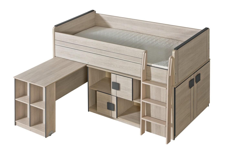 Gumi  Bett + Schrank + Schreibtisch + Regal von Bett Mit Schreibtisch Und Schrank Photo