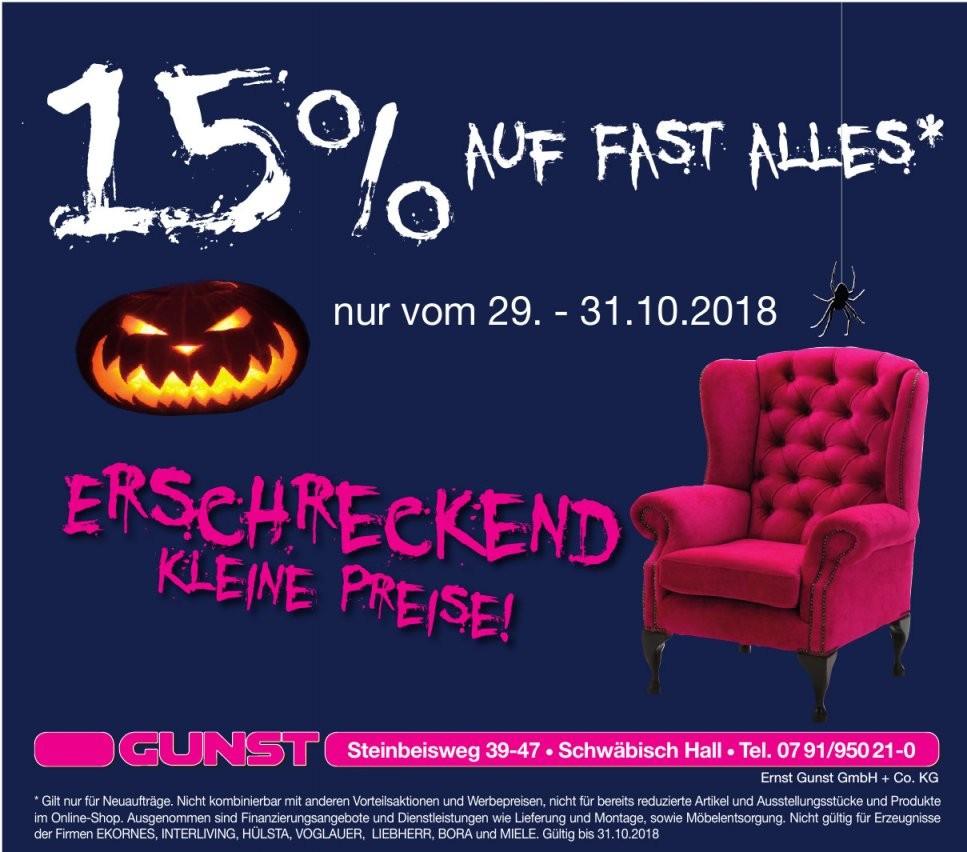 Gunst Möbelmärkte In Schwäbisch Hall Bieten Halloweenrabatt von Möbel Gunst Schwäbisch Hall Bild