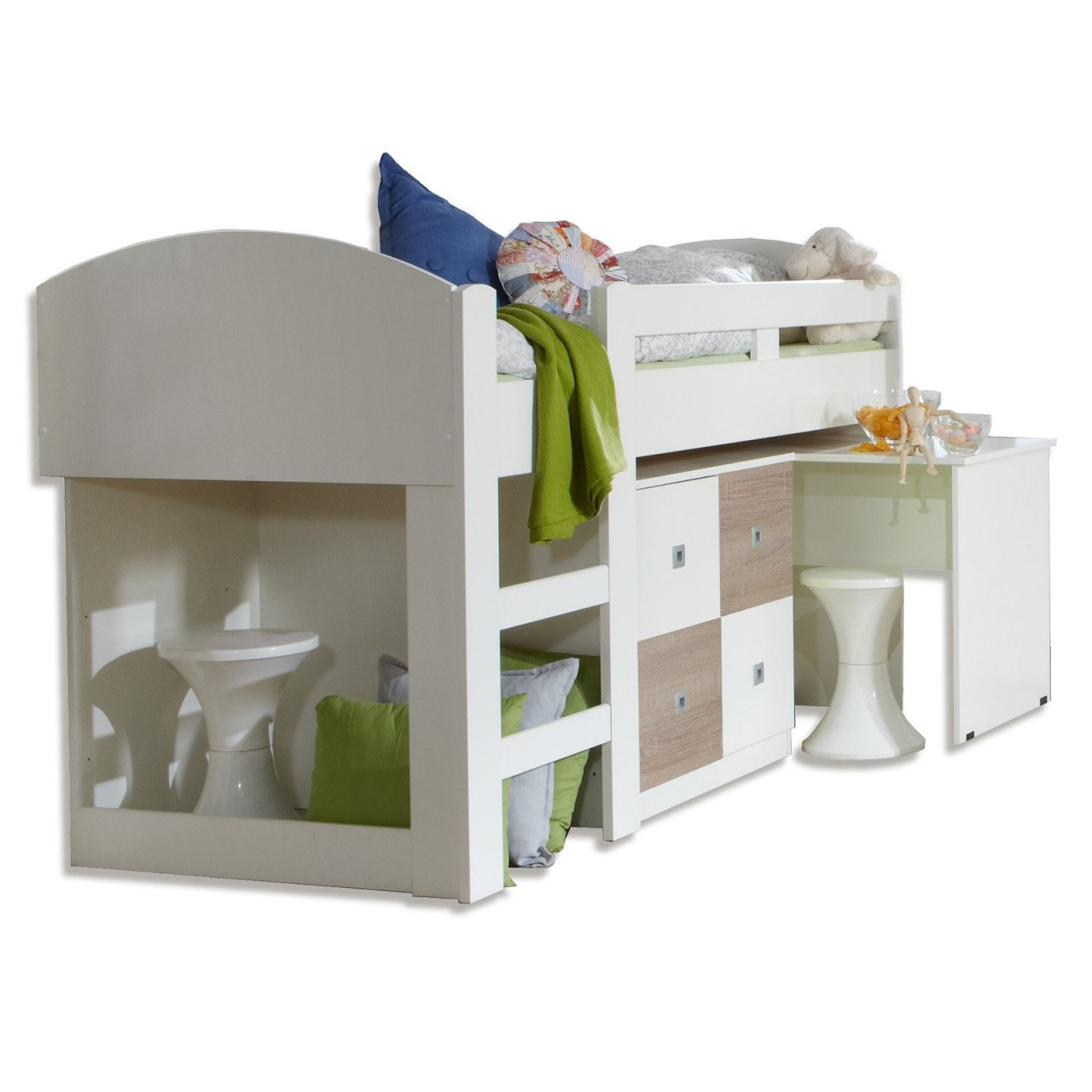Halbhohes Kinderbett Mit Treppe Perfect Genial Hochbett Treppe von Halbhohes Kinderbett Mit Treppe Bild
