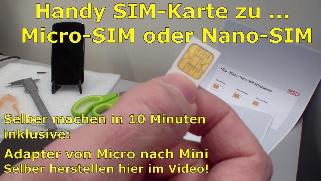 Handy Simkarte Zu Micro  Nano Zuschneiden Und Minisimadapter von Nano Sim Auf Micro Sim Adapter Selber Bauen Bild