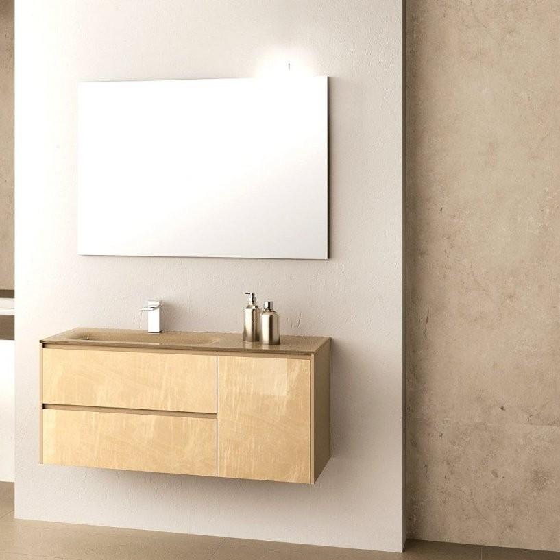 Hängender Waschtischunterschrank  Aus Esche  Modern  Mit Spiegel von Waschbecken Beige Mit Unterschrank Bild