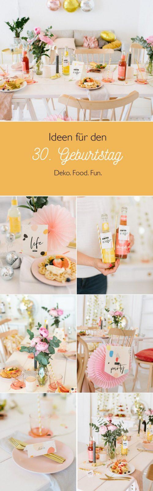 Happy Party Box Deko Zum 30 Geburtstag  Fräulein K Sagt Ja von Deko Ideen 30 Geburtstag Photo