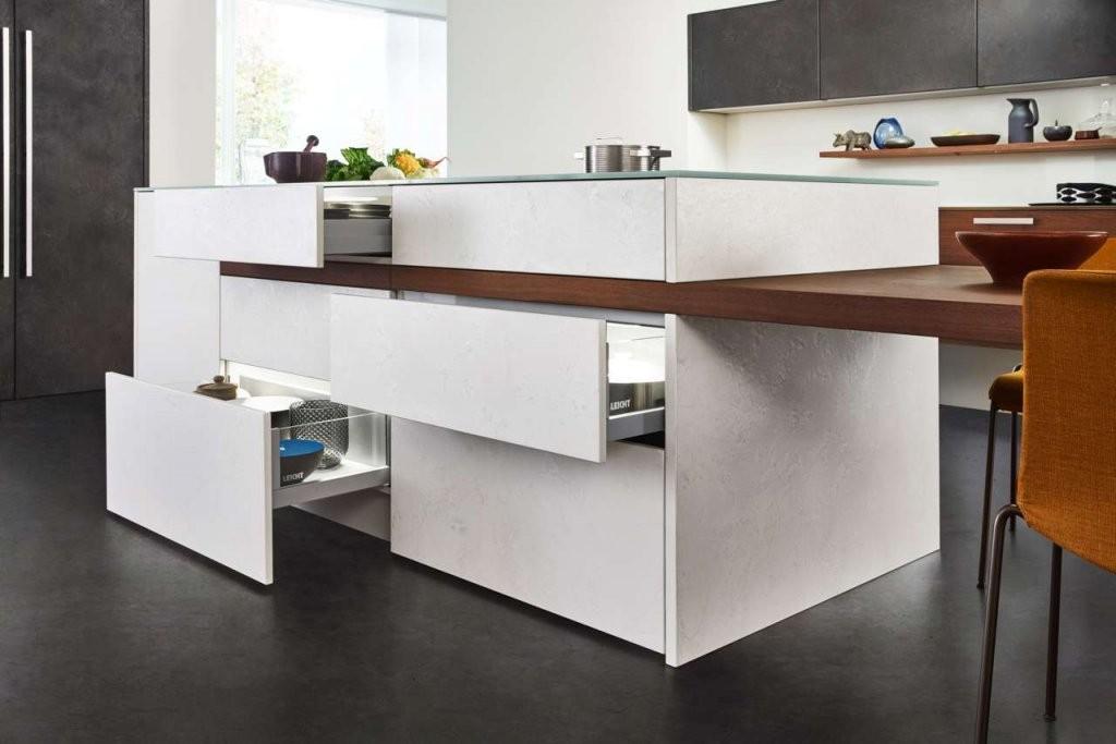 Harmonie Von Küche Und Wohnraum  Küchen Journal von Küche Mit Integriertem Tisch Photo