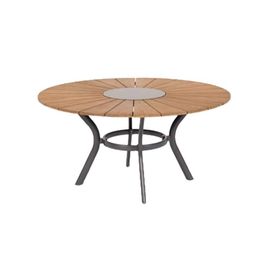 Hartman Provence Tisch Ø150Cm Aluminiumteakgraniteinleger  Garten von Gartentisch Rund 150 Cm Photo