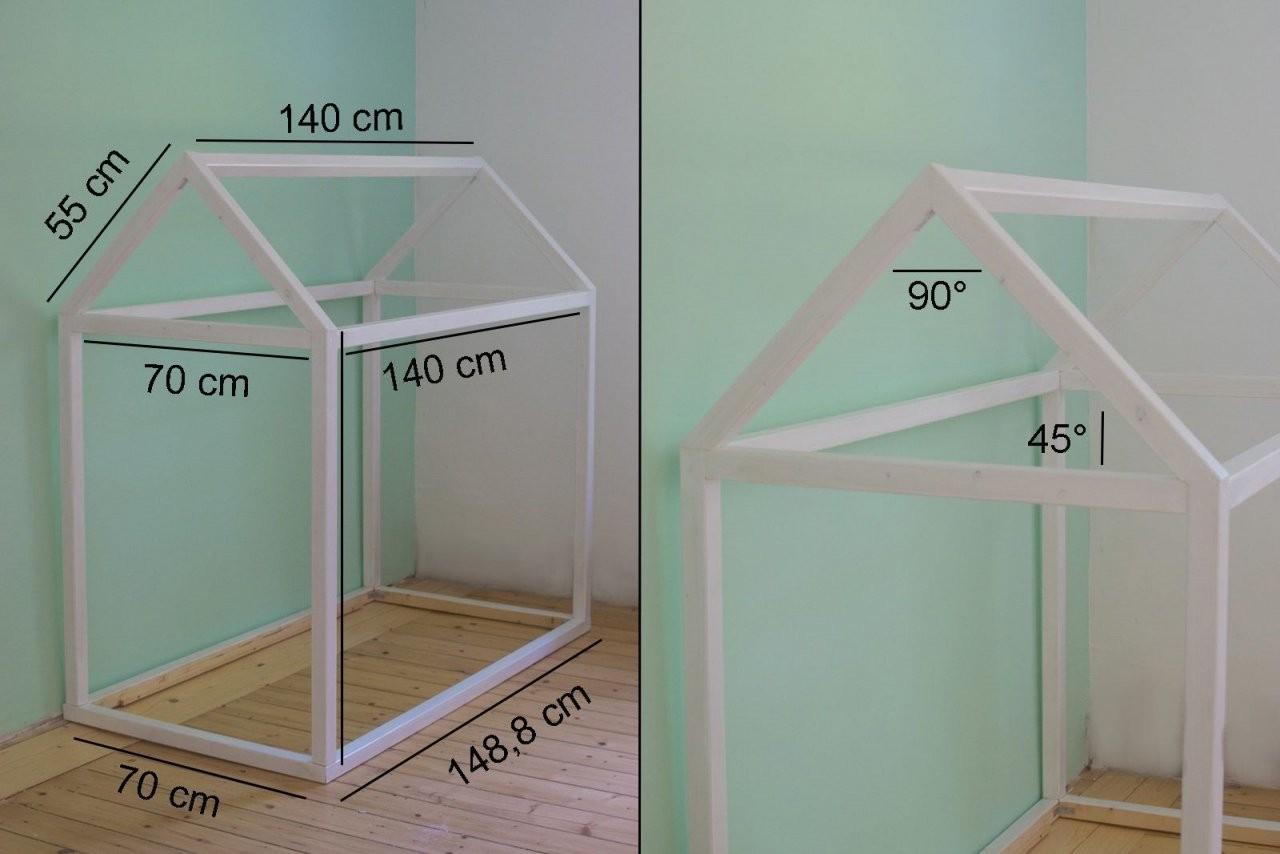 Hausbett Selbst Bauen Bauanleitung Für Ein Kinder Floor Bed Bett von Kinderbett Selber Bauen Haus Photo