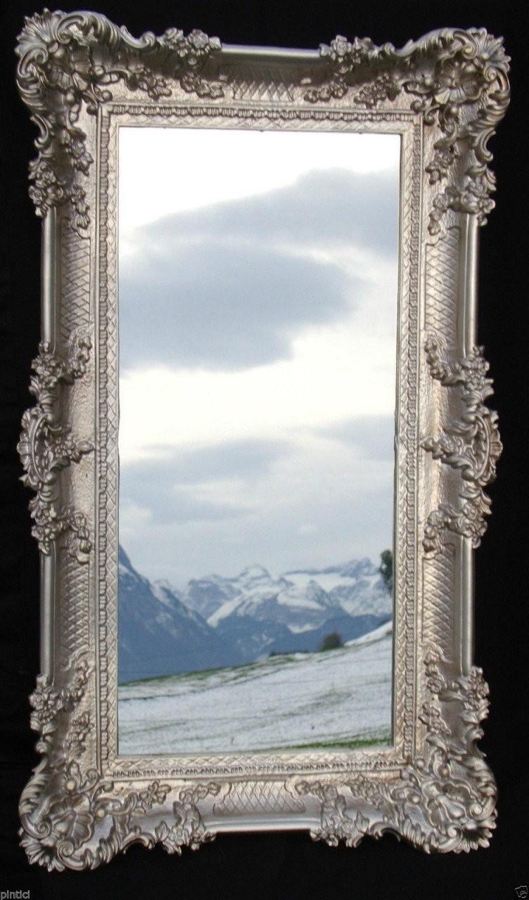Hausdesign Wandspiegel Groß Badspiegel Barock Silberantik Spiegel von Barock Spiegel Silber Groß Photo