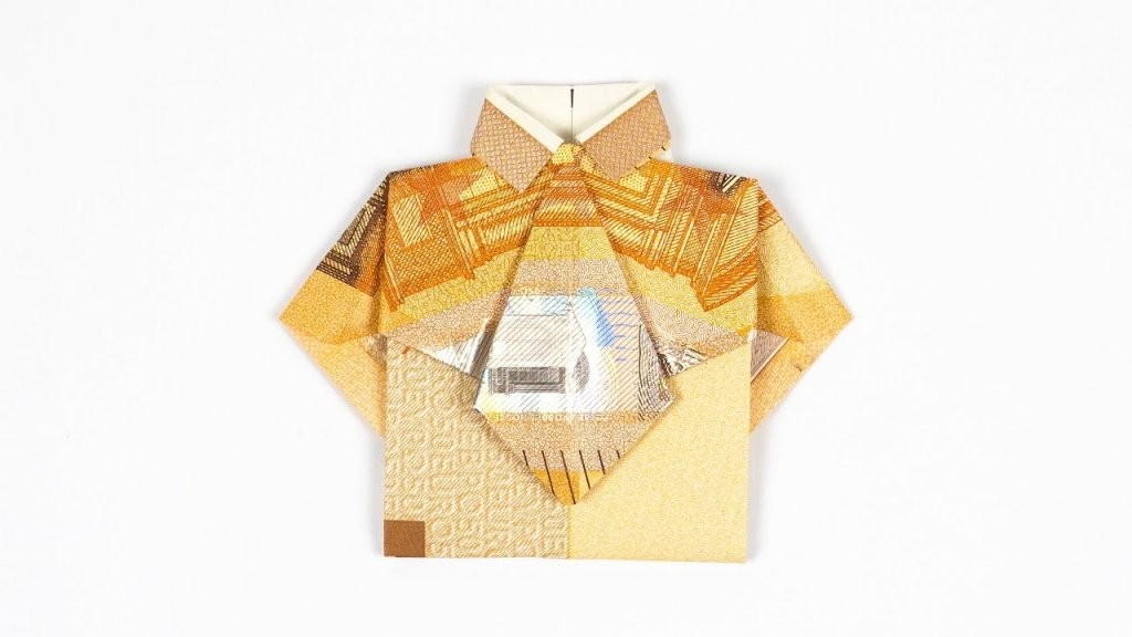Hemd Mit Krawatte Aus Geldschein Falten Geldgeschenk Zur Hochzeit von Origami Hemd Mit Krawatte Bild