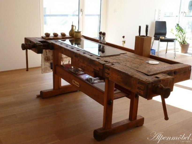 Herd Auf Hobelbank …  Muebles  Hobel… von Alte Werkbank Als Esstisch Bild